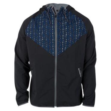 Men's Radius Woven Full Zip Stranded Print Hooded Jacket