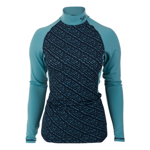Women's Element Compression Long Sleeve Bead Print Mock Tee