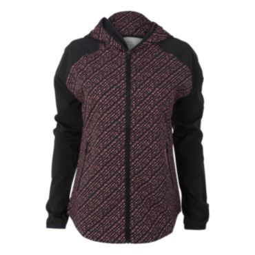 Women's Radius Woven Full Zip Bead Print Hooded Jacket