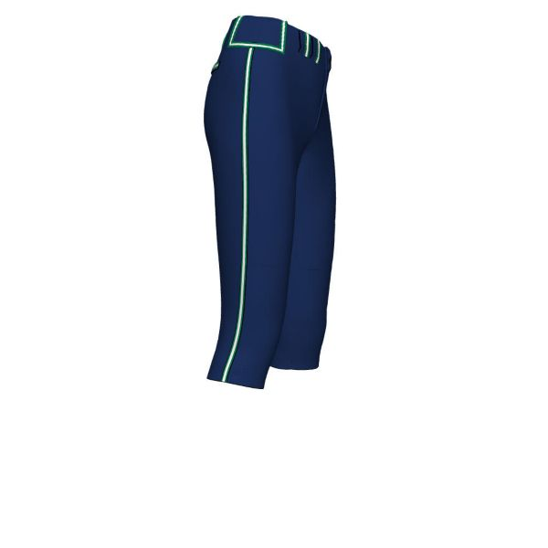 Girl's Custom Braided Triple Fastpitch Pant (BM-5088G)
