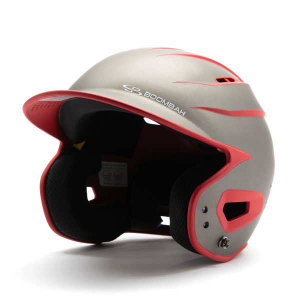 DEFCON Batting Helmet Sleek Profile Charcoal/Red