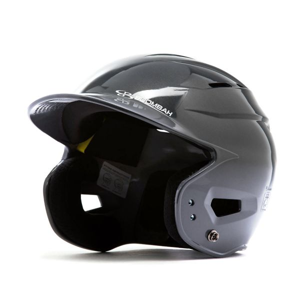 Boombah DEFCON Metallic High Gloss Fade Batting Helmet Sleek Profile Metallic Black/Metallic Gray