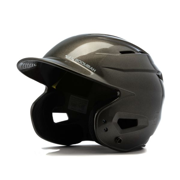 Boombah DEFCON Metallic High Gloss Solid Batting Helmet Sleek Profile Metallic Charcoal