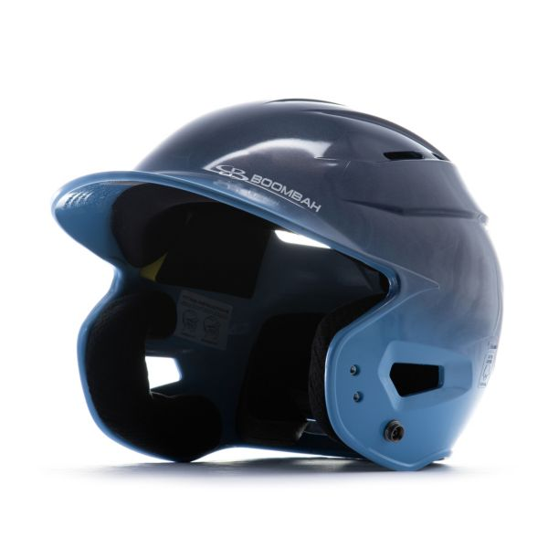 Boombah DEFCON Metallic High Gloss Fade Batting Helmet Sleek Profile Metallic Navy/Metallic Columbi