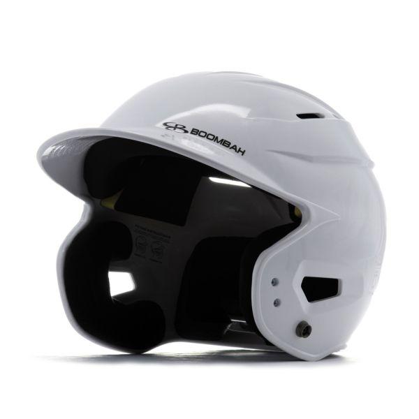 Boombah DEFCON Metallic High Gloss Solid Batting Helmet Sleek Profile Metallic White