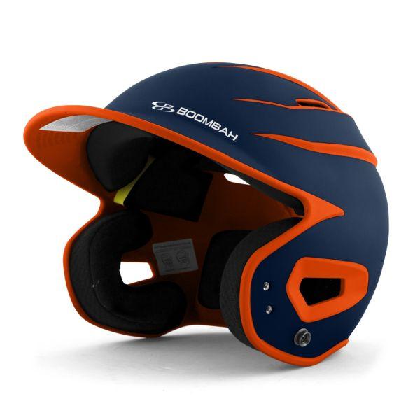 DEFCON Batting Helmet Sleek Profile Navy/Orange