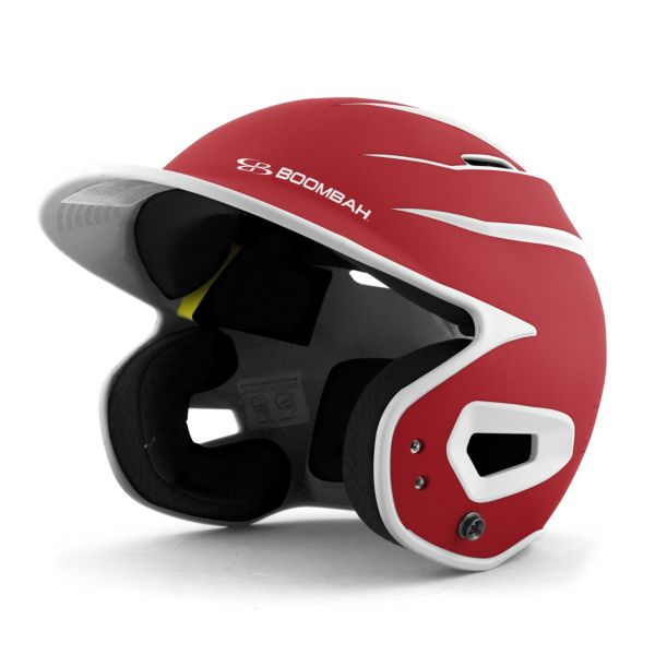 DEFCON Batting Helmet Sleek Profile Red/White