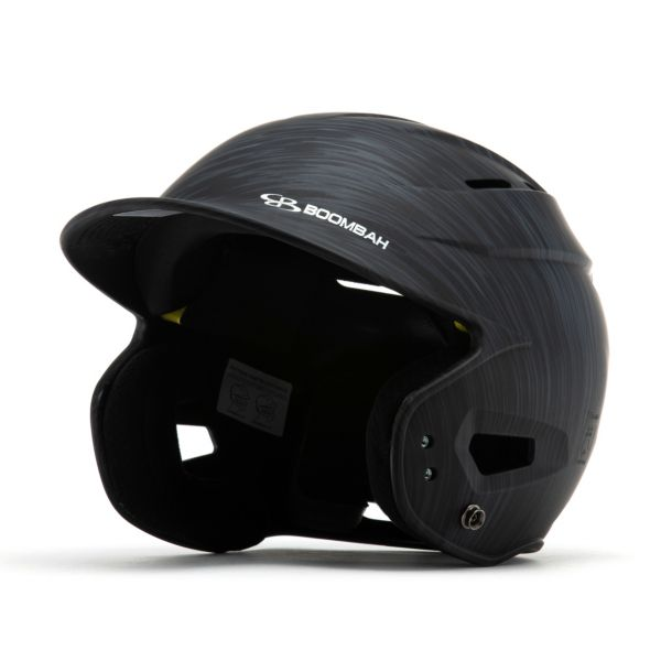 Boombah DEFCON Scrape Batting Helmet Sleek Profile Black