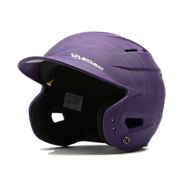 Boombah DEFCON Scrape Batting Helmet Sleek Profile Purple