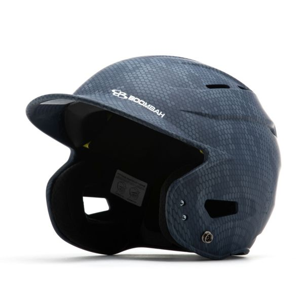 Boombah DEFCON Swarm Camo Batting Helmet Sleek Profile Navy