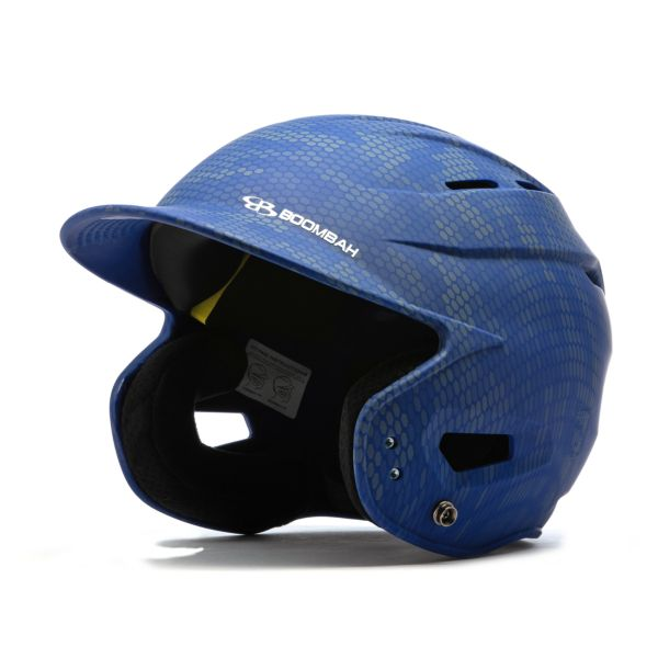 Boombah DEFCON Swarm Camo Batting Helmet Sleek Profile Royal Blue