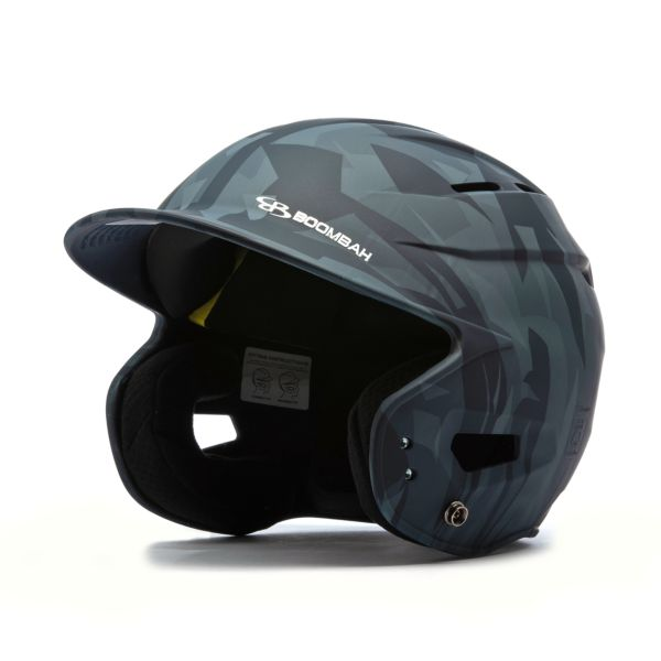 Boombah DEFCON Stealth Camo Batting Helmet Sleek Profile Navy