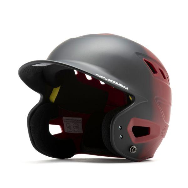 Boombah DEFCON Matte Fade Batting Helmet Black/Maroon