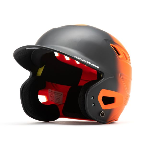 Boombah DEFCON Matte Fade Batting Helmet Black/Orange