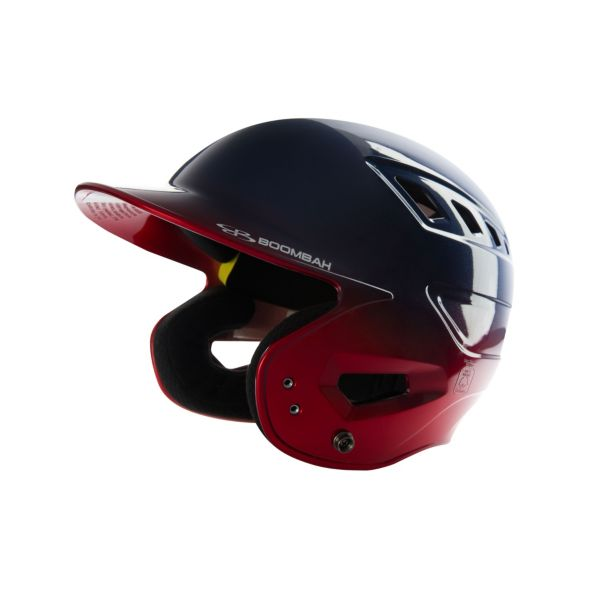 Boombah DEFCON Metallic High Gloss Fade Batting Helmet Metallic Navy/Metallic Red