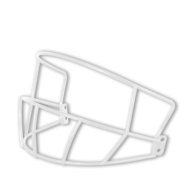 Deflector Batting Helmet Mask White