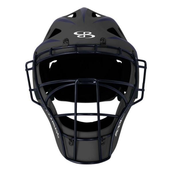 DEFCON 2.0 Rubberized Matte Hockey Style Catchers Helmet Dark Charcoal/Navy