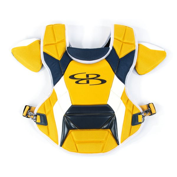 Boombah DEFCON Men's Chest Protector Commotio Cordis Gold/Navy