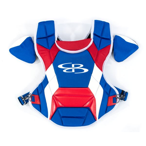 Boombah DEFCON Men's Chest Protector Commotio Cordis Royal Blue/Red