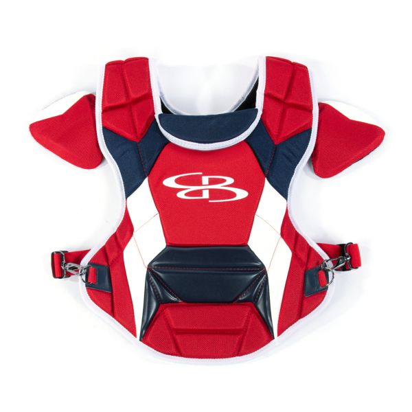 Boombah DEFCON Men's Chest Protector Commotio Cordis Red/Navy