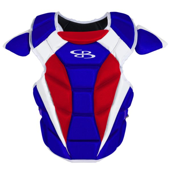 Boombah DEFCON Men's Chest Protector Royal Blue/Red