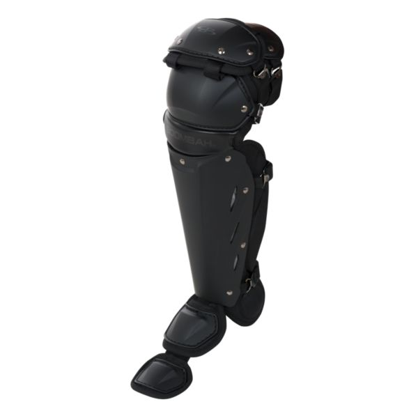 Boombah DEFCON Shin Guards Matte Out Black