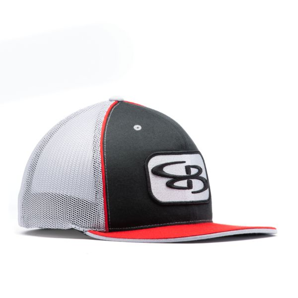 Boombah Elite Series B-Logo Hat Mesh Back Black/Red/Gray
