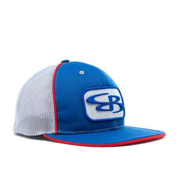 Boombah Elite Series B-Logo Hat Mesh Back Royal Blue/Red/Gray