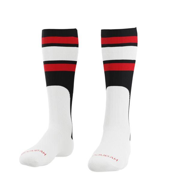 Men's Striped Mock Stirrup Socks Black/White/Red