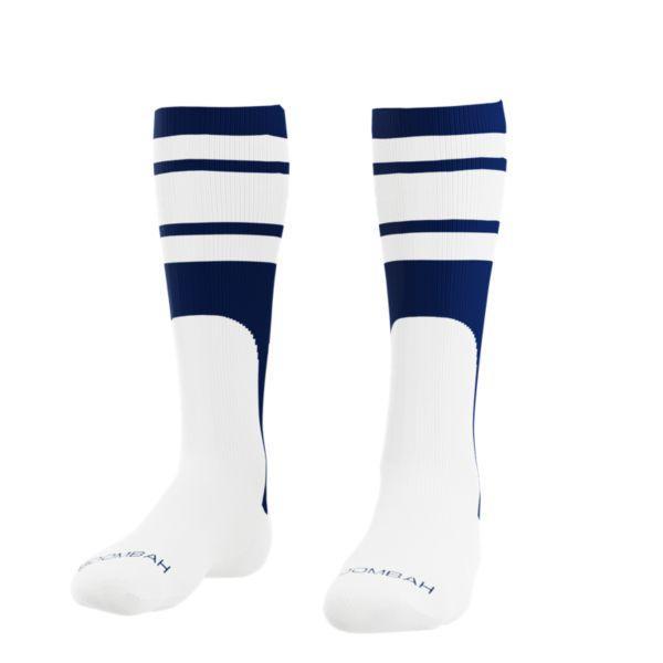 Men's Striped Mock Stirrup Socks Navy/White