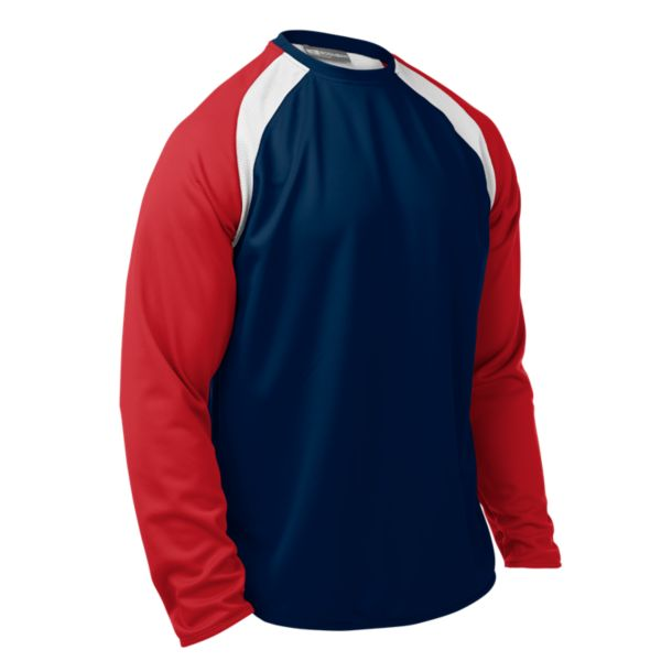Men's Talent Crew Pullover Navy/Red/White