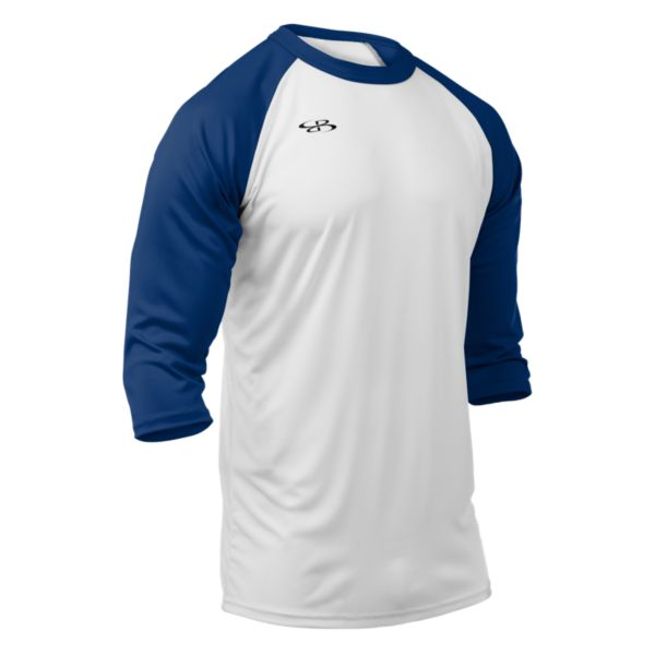 Men's Cannon Performance 3/4 Sleeve Shirt White/Royal Blue