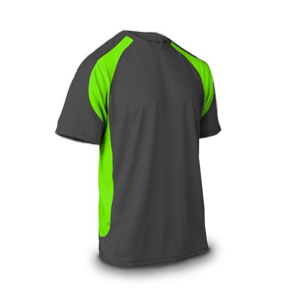 Men's Explosion Short Sleeve Shirt Charcoal/Lime Green