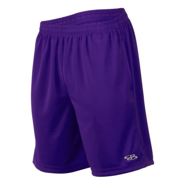Men's Solid Sport Mesh Shorts Purple