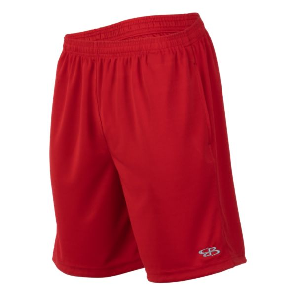 Men's Solid Sport Mesh Shorts Red
