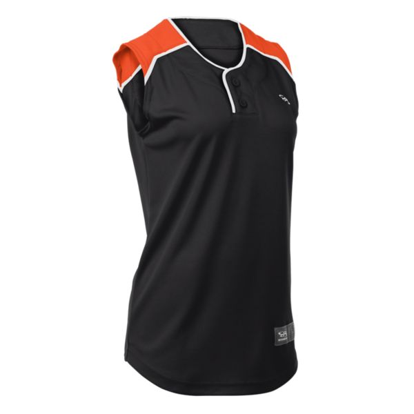 70e0eb79878 Clearance Fastpitch Jerseys. Women's Clutch 2-Button Sleeveless Jersey