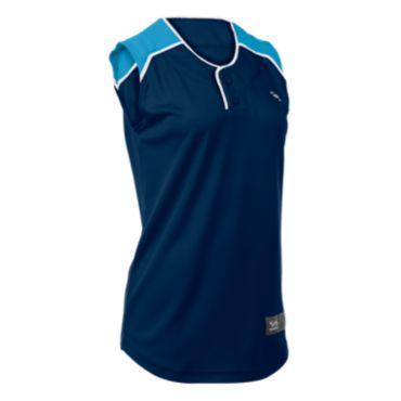Women's Clutch 2-Button Sleeveless Jersey