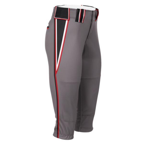 Hypertech Series Women's Fastpitch Venom Pant Steel/Black/Red