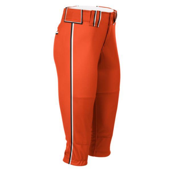 Hypertech Series Women's Fastpitch Loaded Pant Orange/Black/White