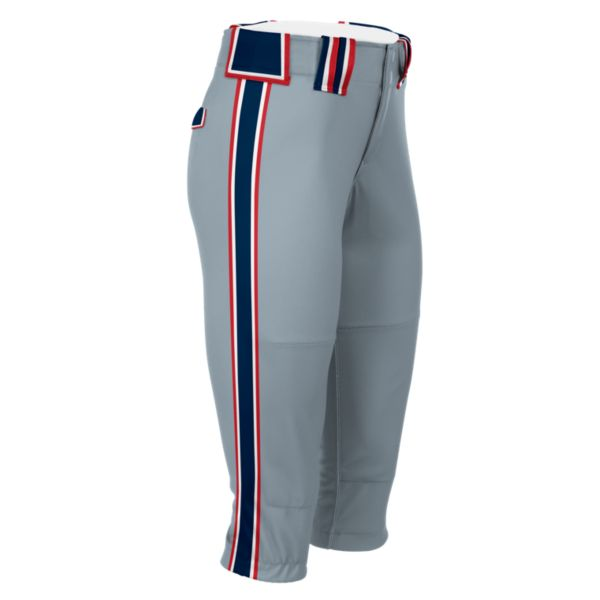 Hypertech Series Women's Fastpitch Maxed Pant Gray/Navy/Red
