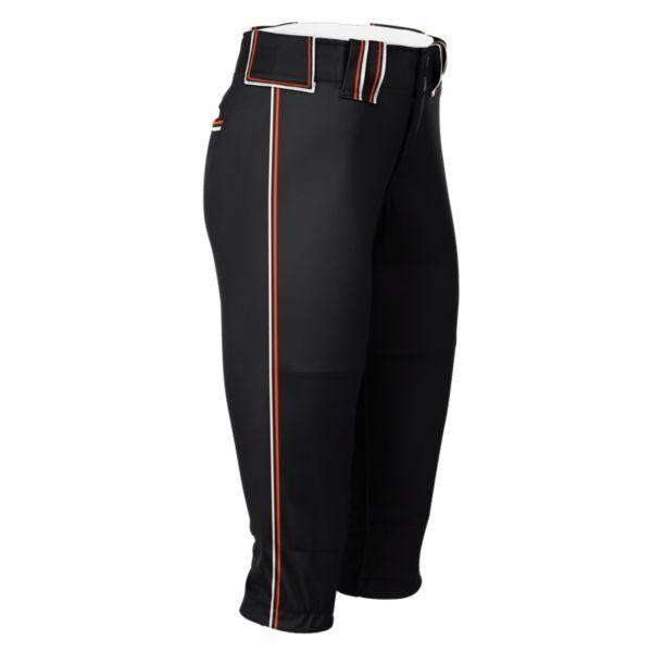 Hypertech Series Women's Fastpitch Triple Pant Black/Orange/Black/White