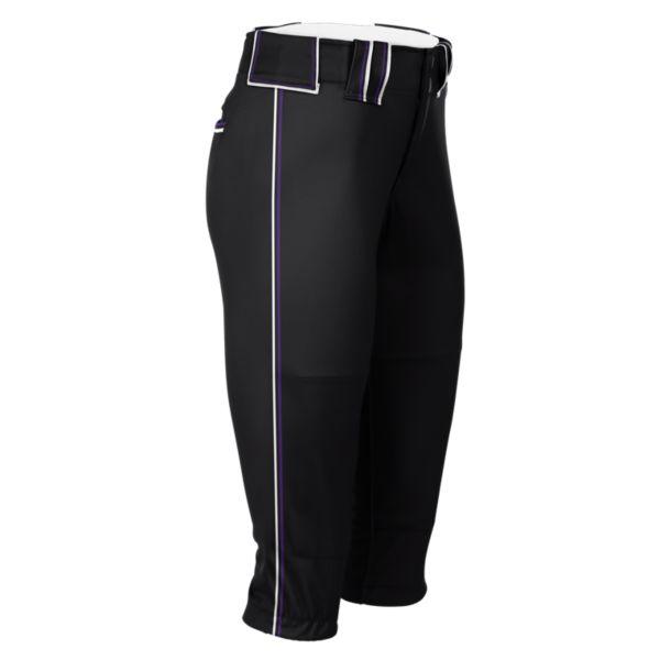 Hypertech Series Women's Fastpitch Triple Pant Black/Purple/Black/White