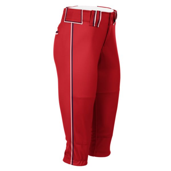Hypertech Series Women's Fastpitch Triple Pant Red/Navy/Red/White