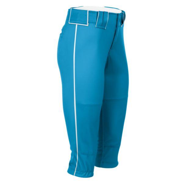 Hypertech Series Women's Fastpitch Pipe Plus Pant Columbia Blue/White