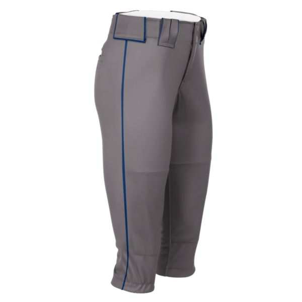Hypertech Series Women's Fastpitch Pipe Plus Pant Steel/Royal Blue