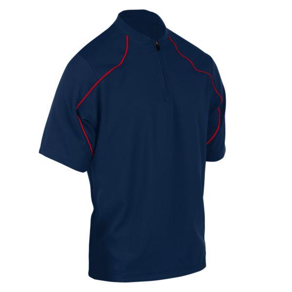 Men's On Deck Quarter Zip Pullover Navy/Red