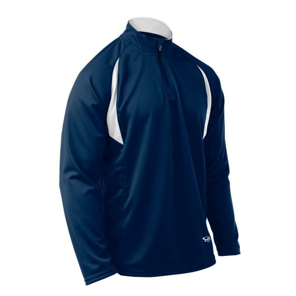 Youth Incite Quarter Zip Pullover Navy/White