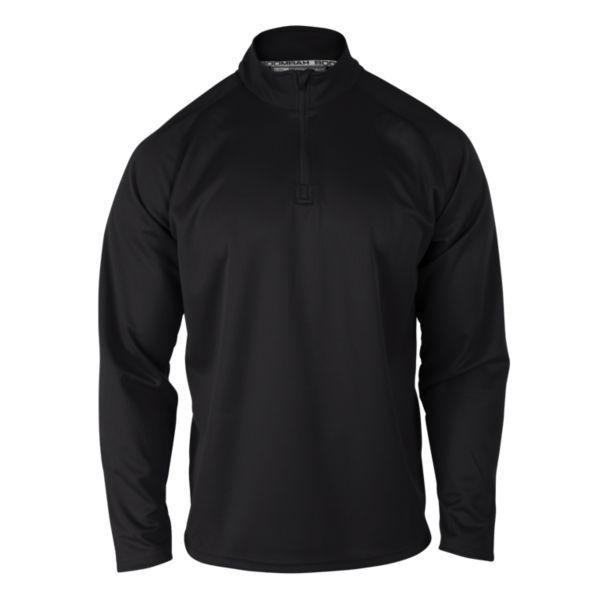 Men's Solid Quarter Zip Pullover