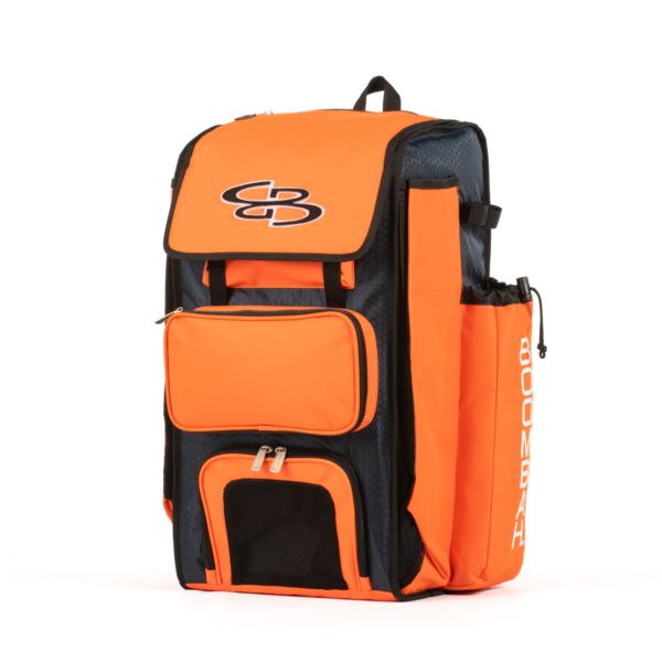 Catcher's Superpack Bat Bag Navy/Orange