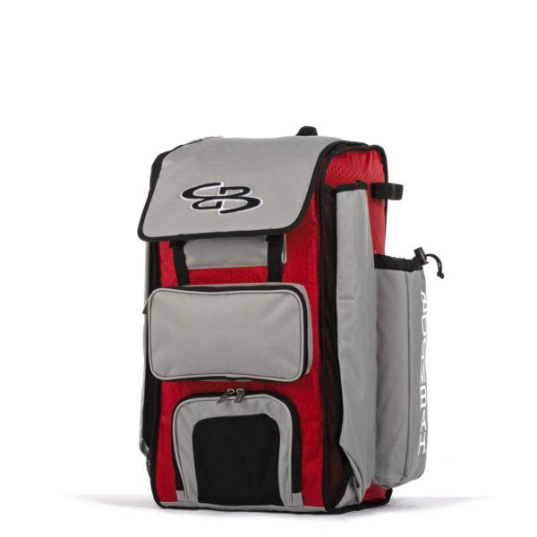 Catcher's Superpack Bat Bag Red/Gray